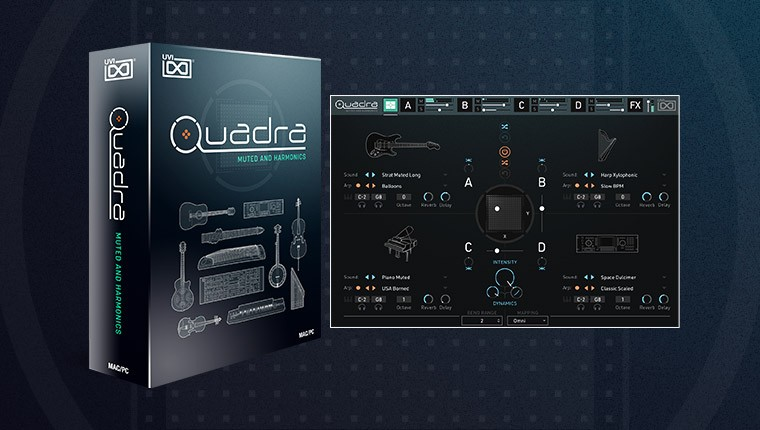 Quadra: Muted and Harmonics