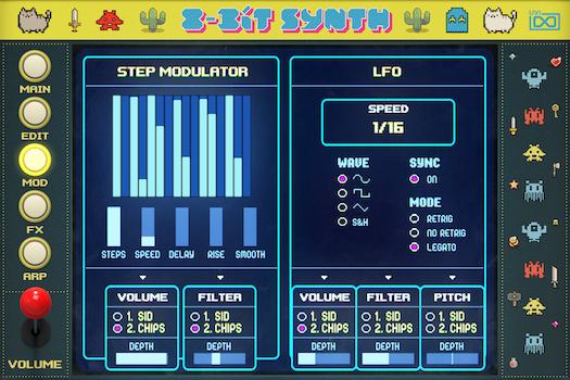 UVI 8-Bit Synth |Mod GUI