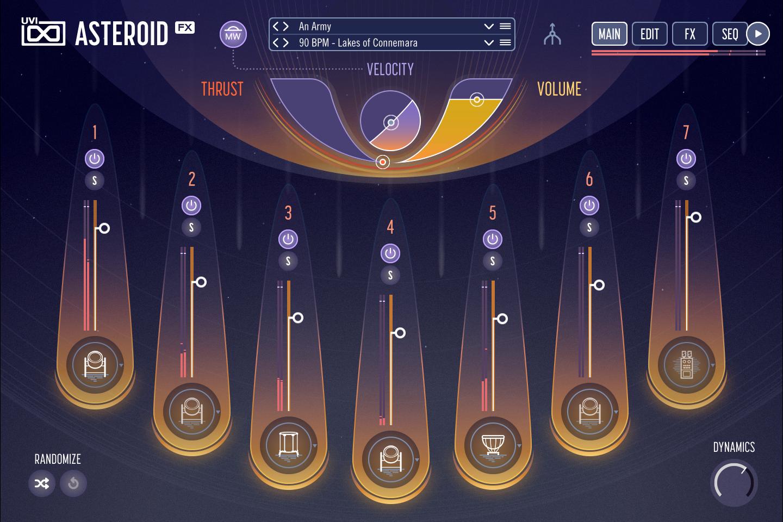 UVI Asteroid | Main GUI