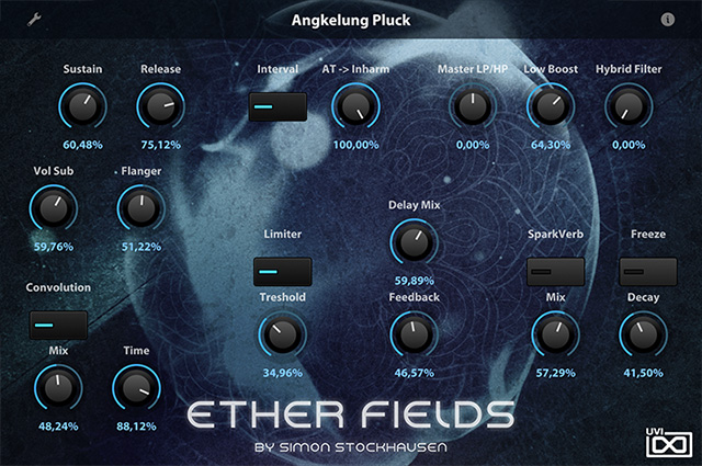 UVI Ether Fields | GUI