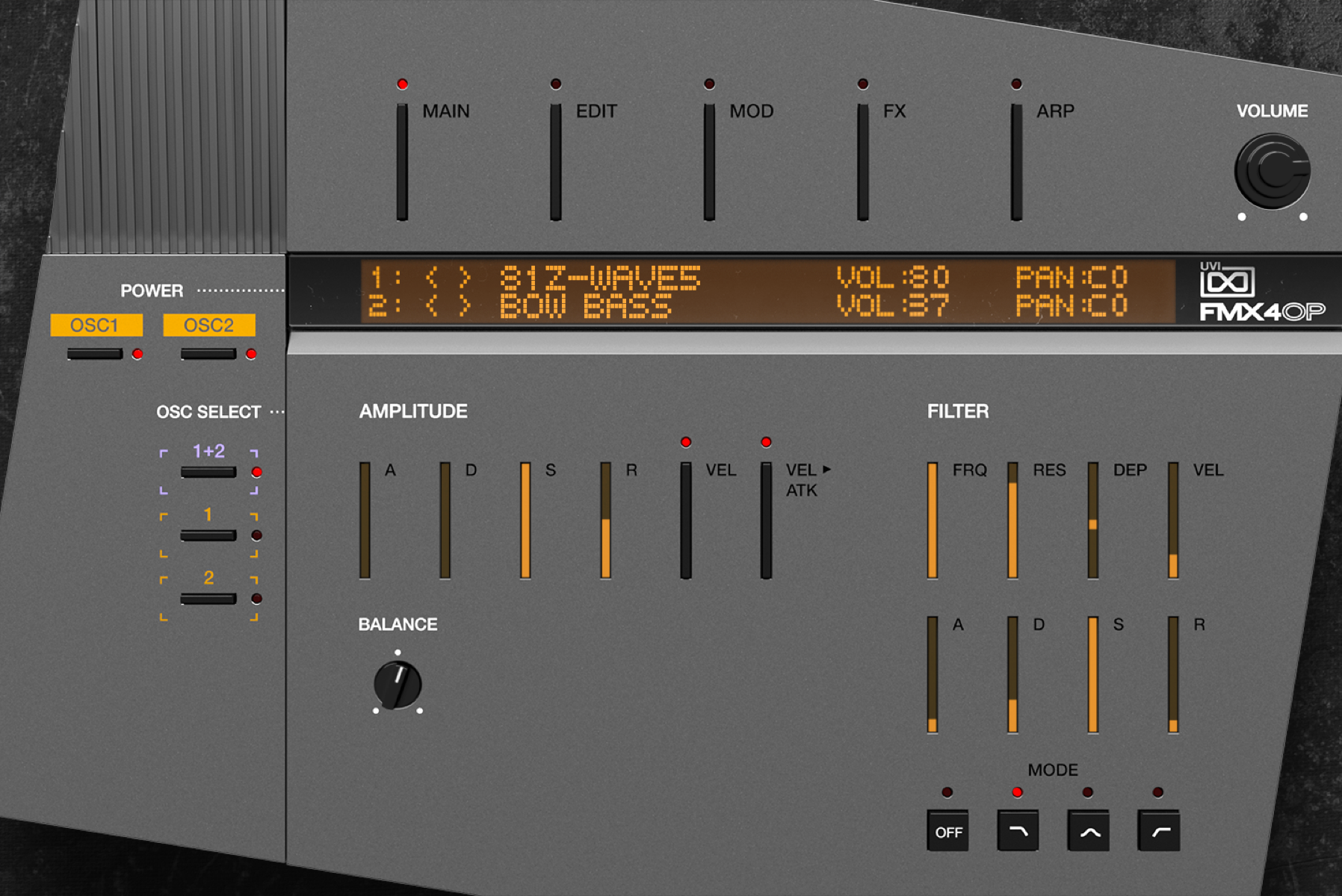 FMX-4op MAIN GUI