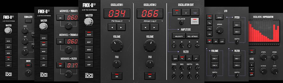 UVI FM Suite | FMX-8op GUI