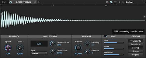 UVI Falcon | IRCAM Stretch Oscillator
