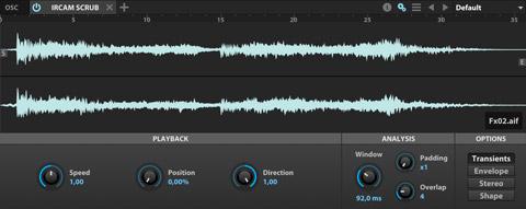 UVI Falcon | IRCAM Scrub Oscillator