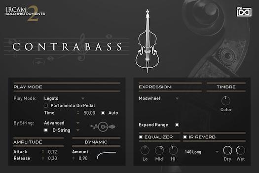 UVI IRCAM Solo Instruments 2 | Contrebass GUI