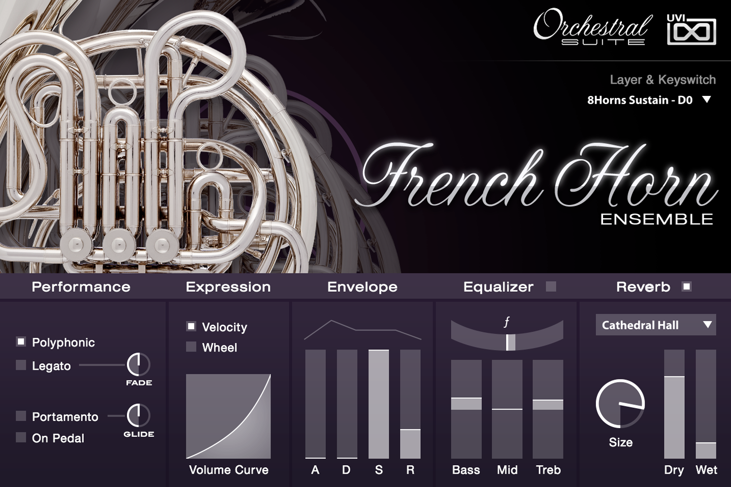 UVI Orchestral Suite | FrenchHorns UI