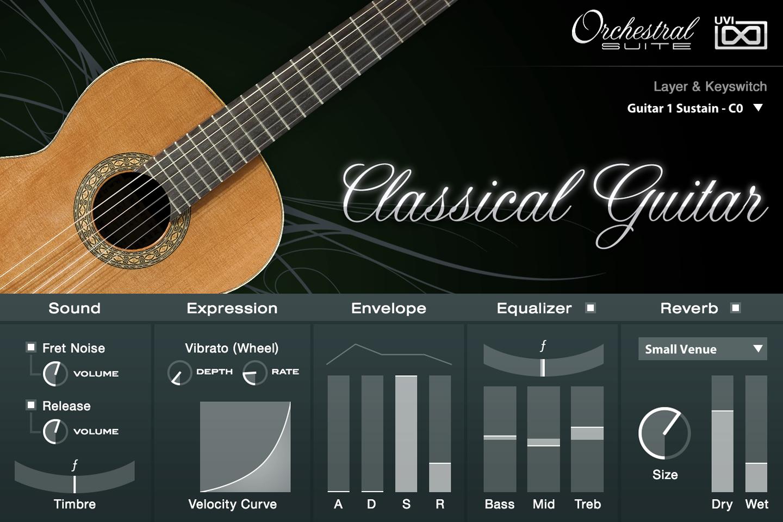 UVI Orchestral Suite | Classical Guitar UI
