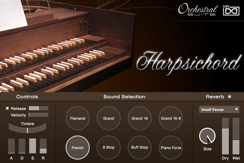 UVI Orchestral Suite | Harpsichord UI