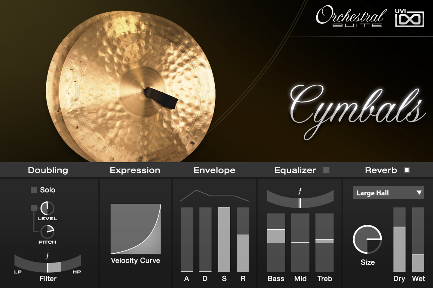 UVI Orchestral Suite | Cymbals UI
