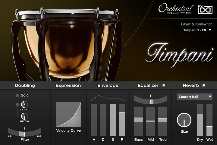 UVI Orchestral Suite | Timpani UI