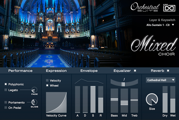 UVI Orchestral Suite | Voices Mixed UI