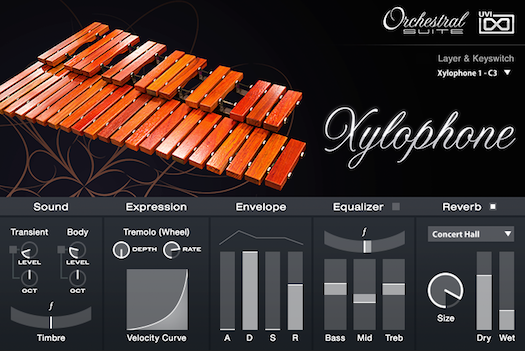 UVI Orchestral Suite | Xylophone UI