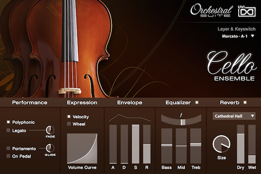 UVI Orchestral Suite | Cello Ensemble UI