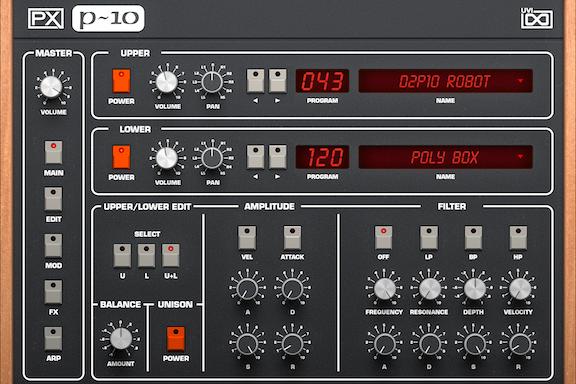 UVI PX P10 |Main GUI