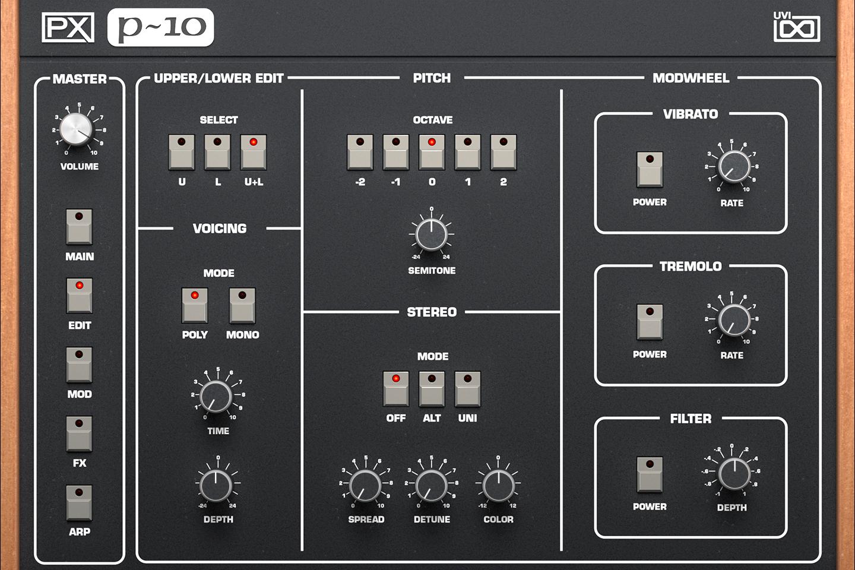 UVI PX P10 | Edit GUI