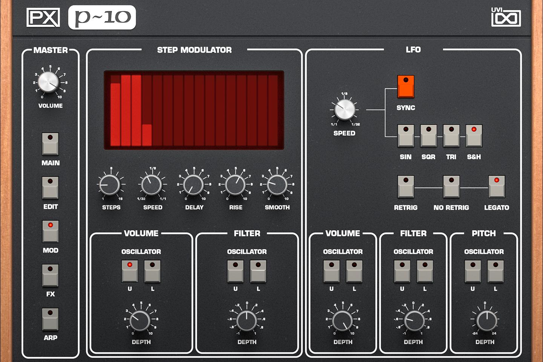 UVI PX P10 | Mod GUI
