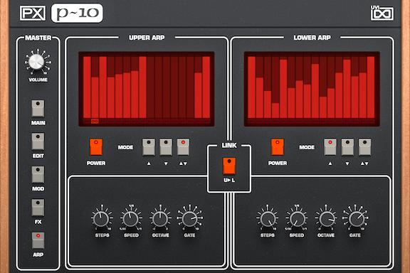 UVI PX P10 | Arp GUI