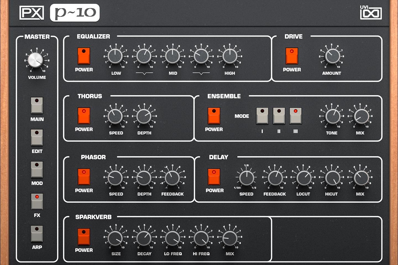 UVI PX P10 | FX GUI