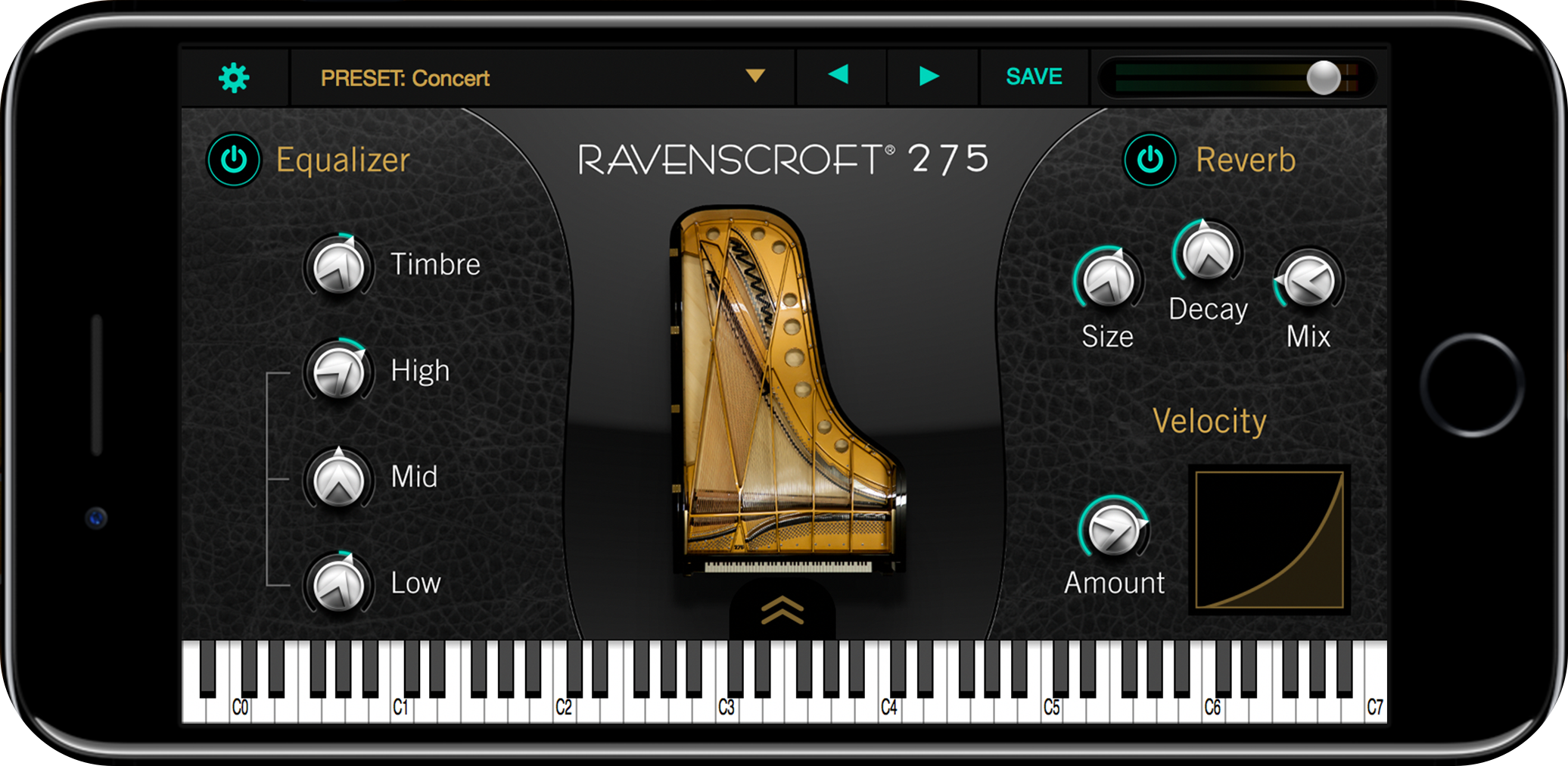 UVI Ravenscroft 275 Piano | GUI iPhone