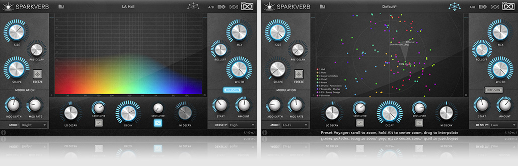 UVI Sparkverb | Box and UI