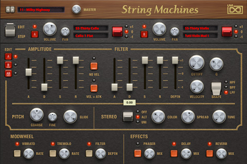 UVI String Machines | Edit GUI