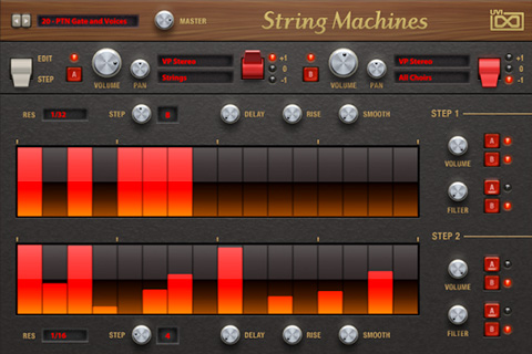 UVI String Machines | Step GUI