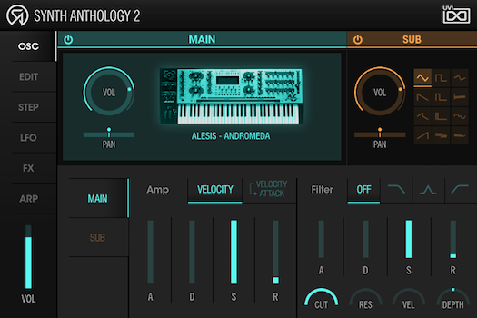 UVI Synth Anthology II | Osc Page