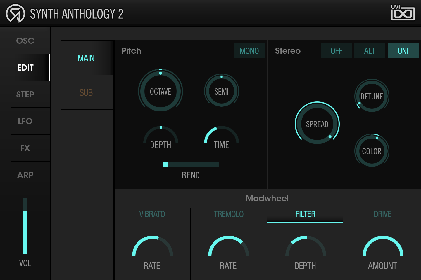 UVI Synth Anthology II | Edit Page