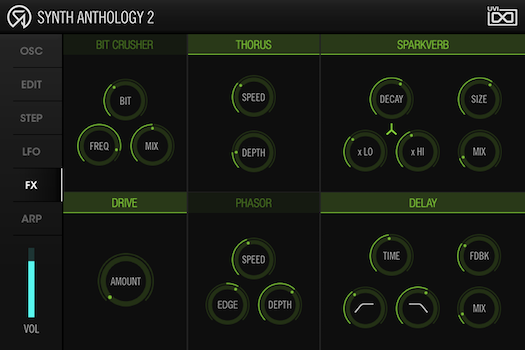 UVI Synth Anthology II | FX Page
