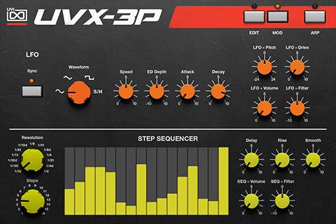 UVI UVX-3P |GUI Page B
