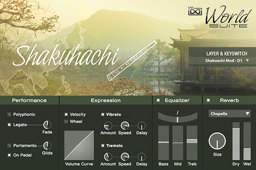 UVI World Suite | Shakuhachi UI