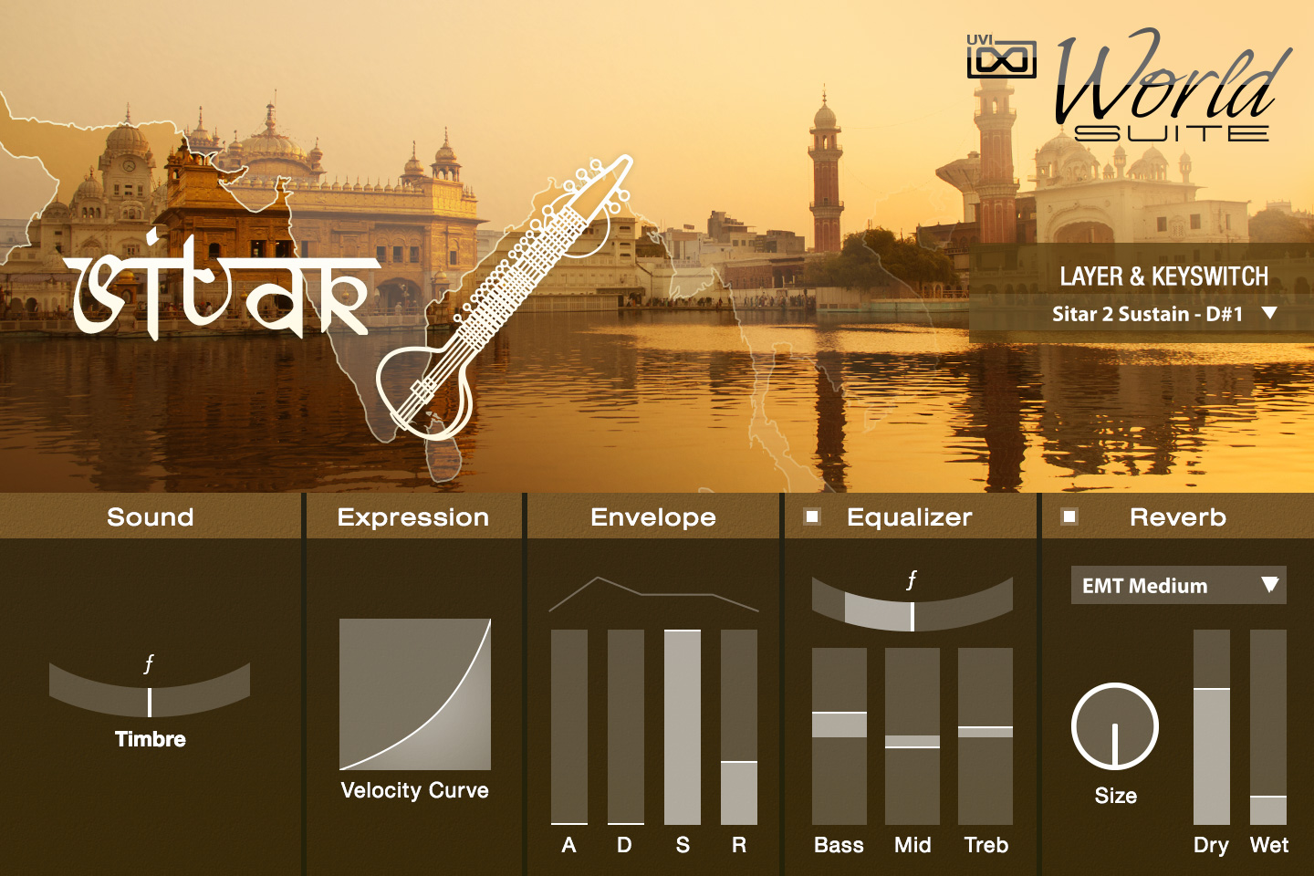 UVI World Suite | Sitar UI