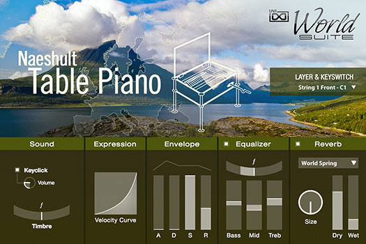 UVI World Suite | Naeshult Table Piano UI