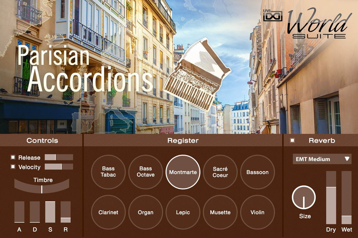 UVI World Suite | Parisian Accordions UI