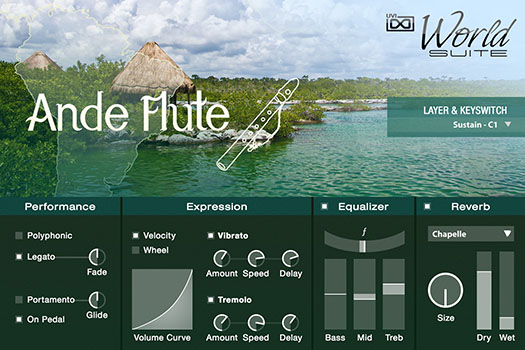 UVI World Suite | Ande Flute UI