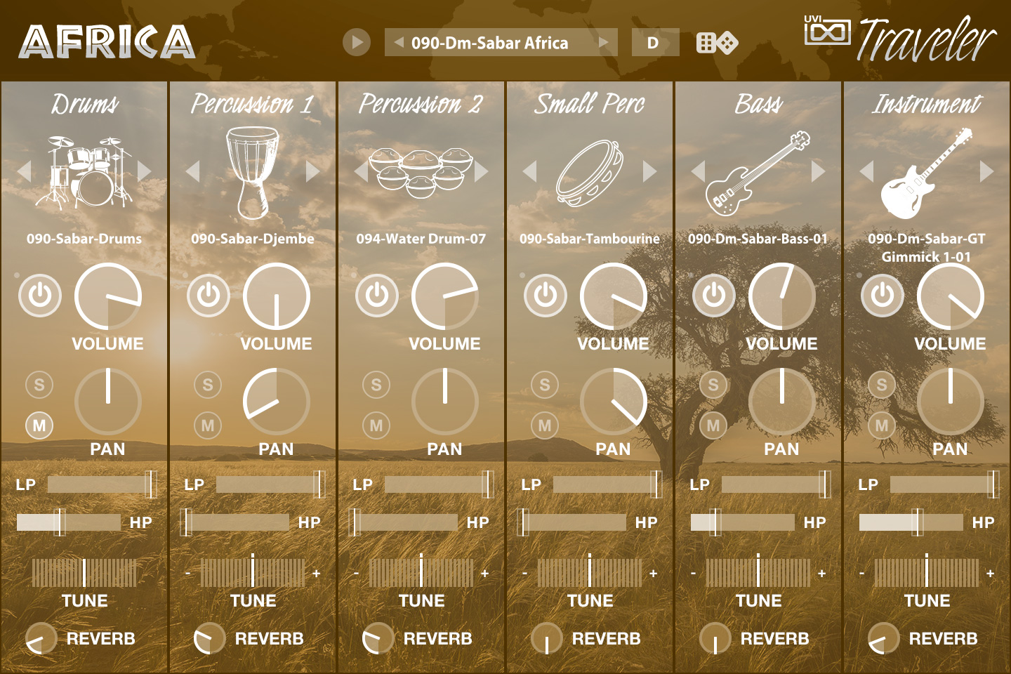 UVI World Suite | Traveler Africa UI