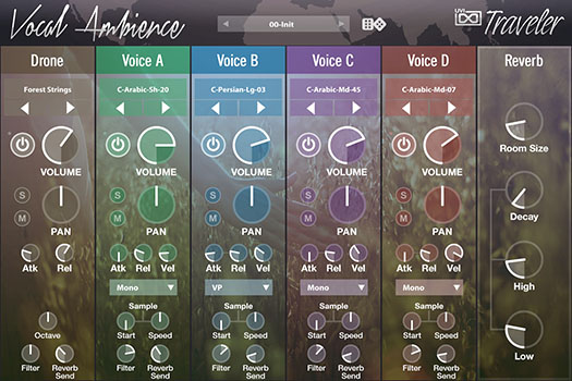 UVI World Suite | Traveler Vocal Ambience UI