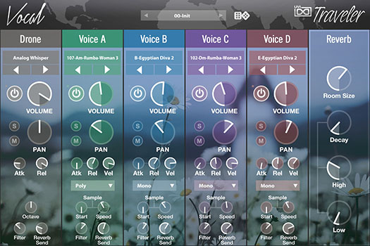 UVI World Suite | Traveler Vocal UI