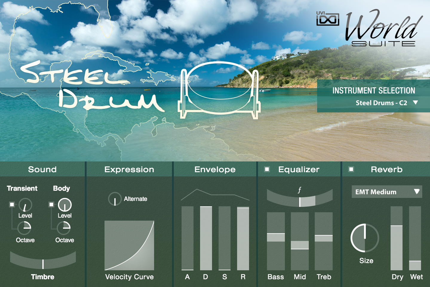 UVI World Suite | Steel Drum UI