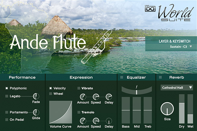 UVI World Suite | South America GUI