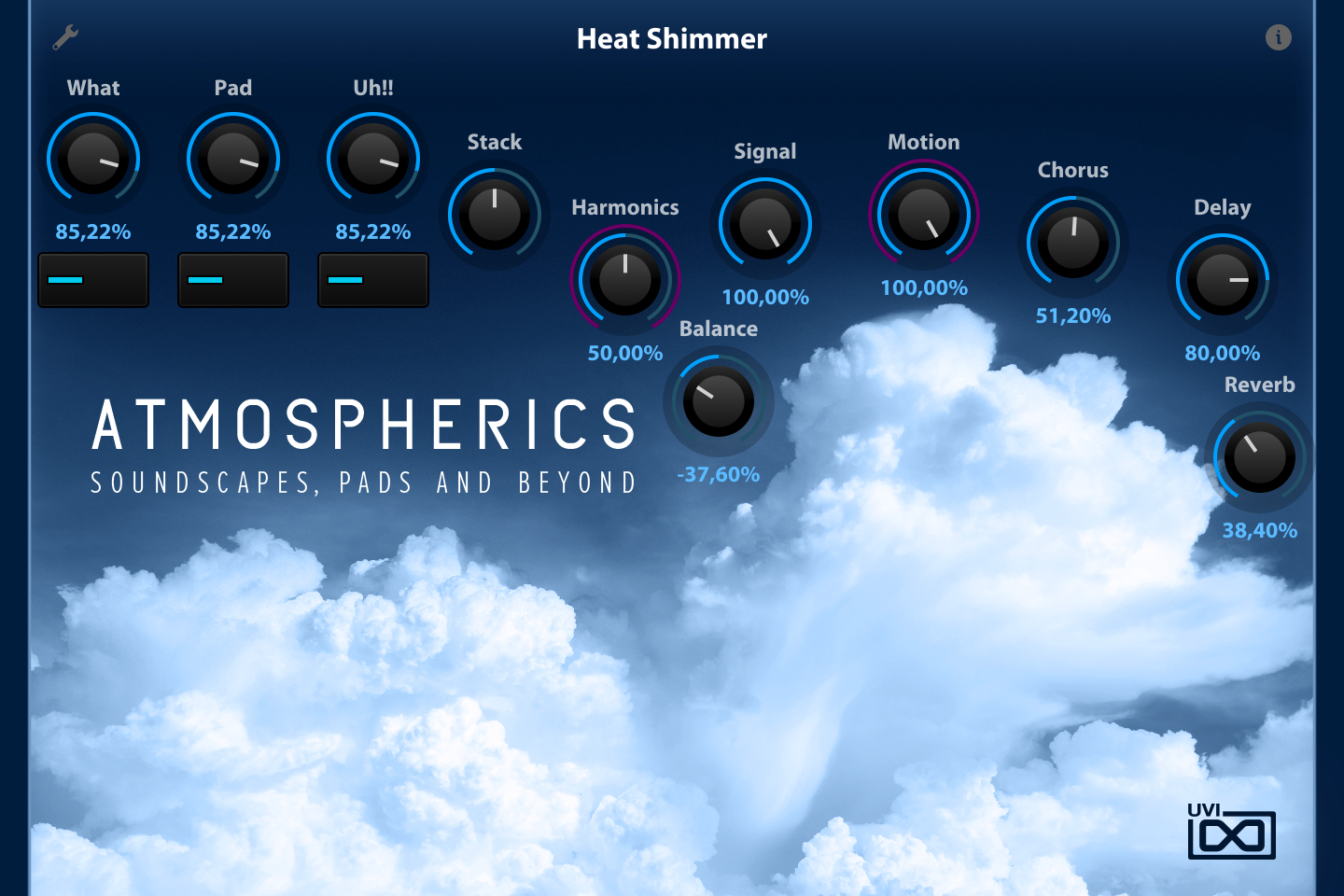 UVI Atmospherics | GUI