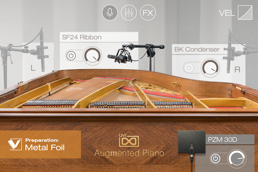 UVI Augmented Piano | Preparations GUI - Metal Foil