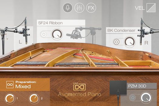 UVI Augmented Piano | Preparations GUI - Mixed