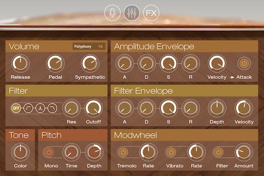 UVI Augmented Piano   GUI EDIT
