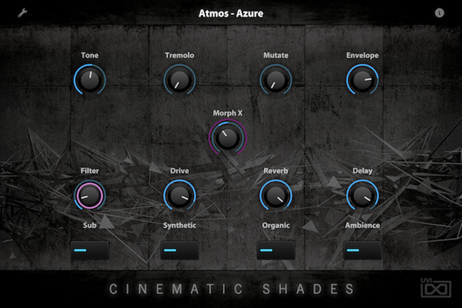 UVI Cinematic Shades | GUI