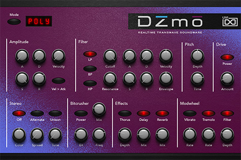 UVI Digital Synsations Volume 2 - DZmo | GUI