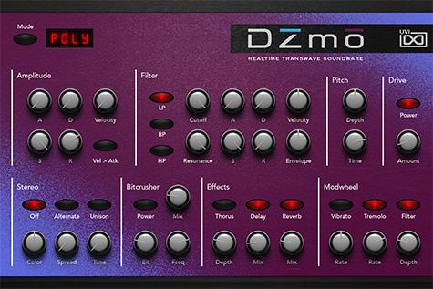 UVI Digital Synsations Volume 2 - DZmo | GUI