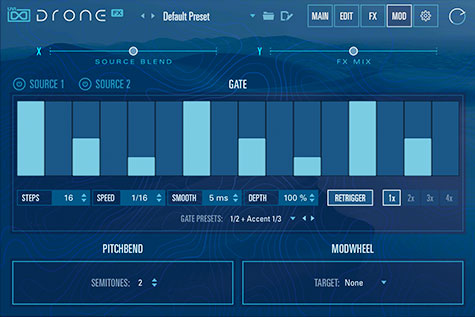 UVI Drone | Gate Sequencer GUI