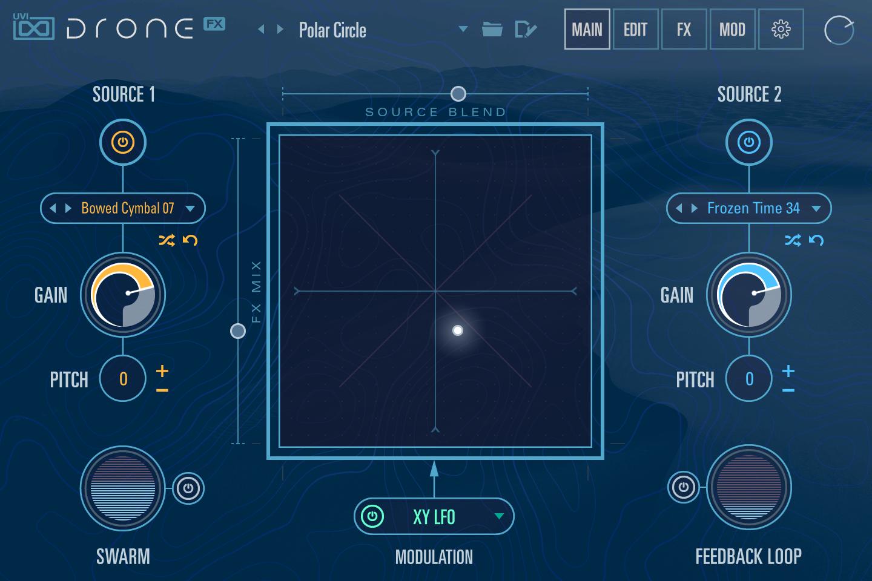UVI Drone |Main Page 1 GUI