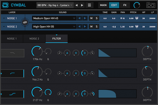 Drum Designer | Cymbal Filter